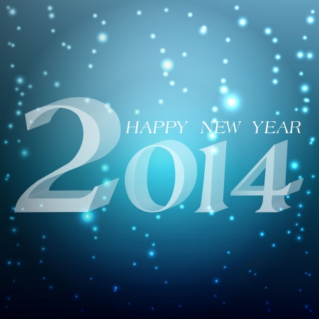 Happy New Year 2014 celebration background with shiny Illustration