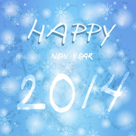 2014 new year. Happy holidays background with snowflakes.