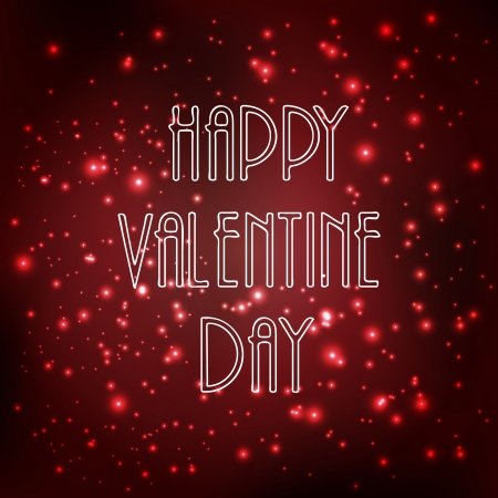 Happy valentine day celebration background with shiny Illustration