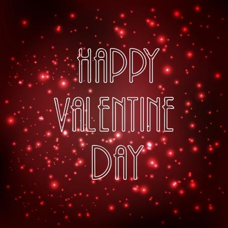 Happy valentine day célébration de fond avec brillant Banque d'images - 25097826