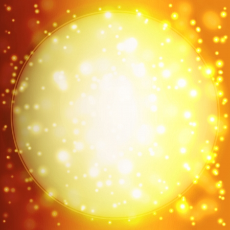 Summer background with a magnificent sun burst with lens flare Illustration