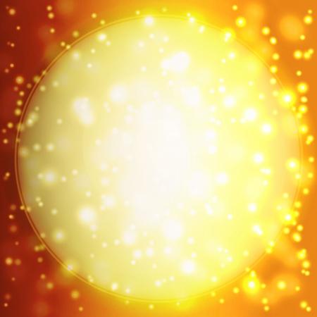Fond d'été avec un soleil magnifique éclater avec lens flare Banque d'images - 25318548