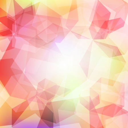3d bright abstract background with transparent cubes Illustration