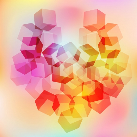 Abstract heart background symbols of love