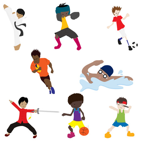 cartoon sport with white background