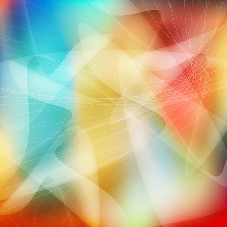 Abstract colorful cube background Illustration