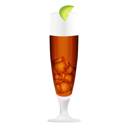 alcoholic cocktails with white background