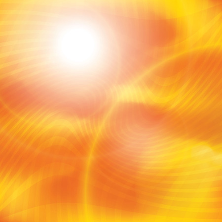 黄色のオレンジ色の夏太陽光バーストを中心としました。場合は、ホットを楽しむ