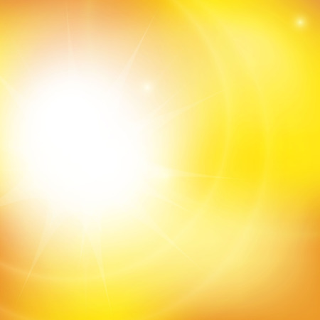radiate: Orange sunny background wiht  summer time