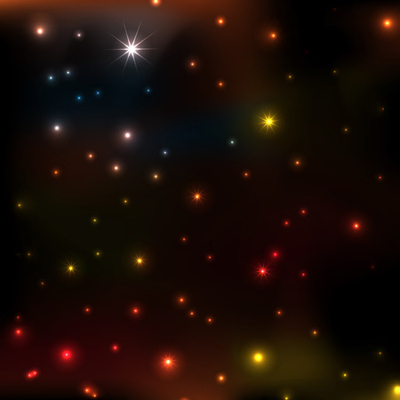 glittering stars on bokeh background