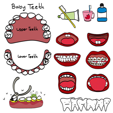 cementum: Vector Set: Dentist and Tooth Care Icons