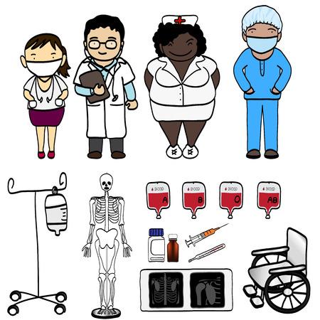 Elegant People Series   Doctor set Illustration