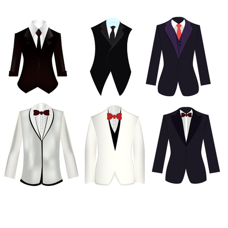 6 of suit and tuxedo set for man