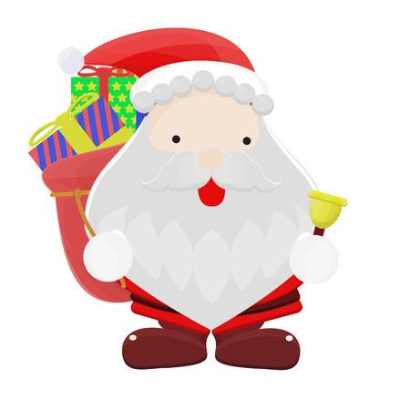 Santa Claus cartoon illustration vector Illustration