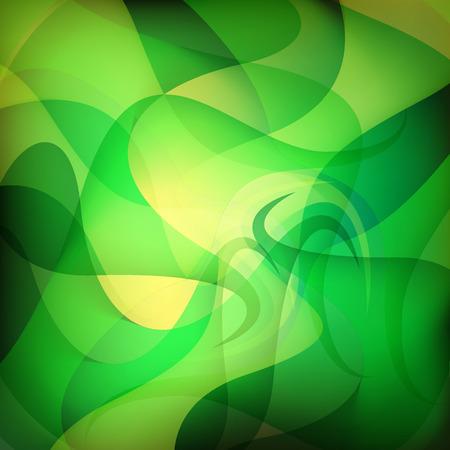 Groene golf abstracte achtergrond Stock Illustratie