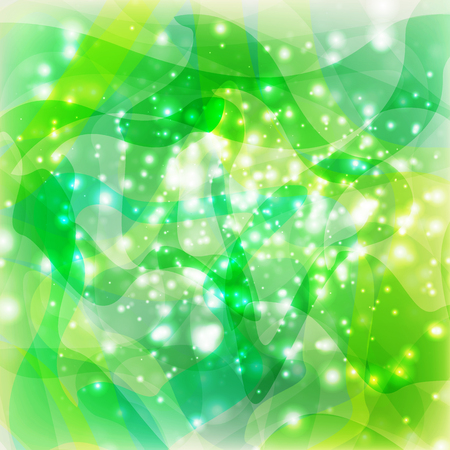 abstract green lights Illustration