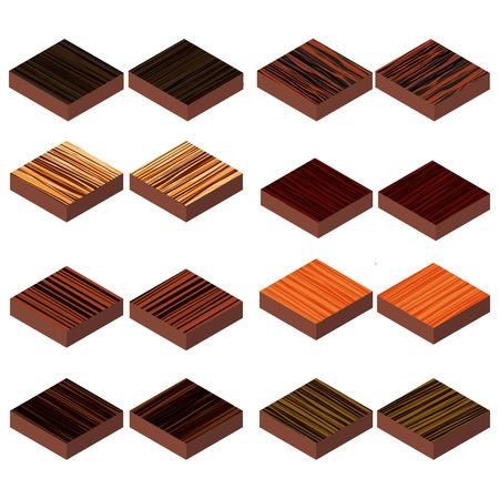 isometric wood floor Illustration