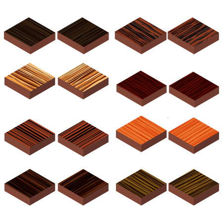 isometric wood floor Illustration