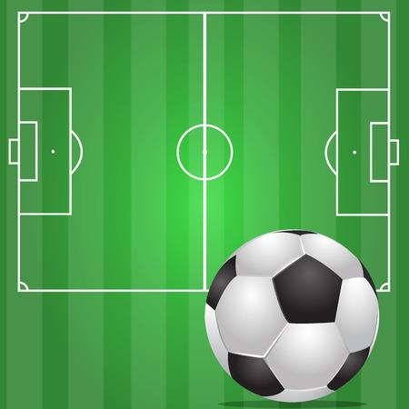 voetbal in het groene gebied