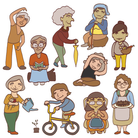 grand mother Illustration