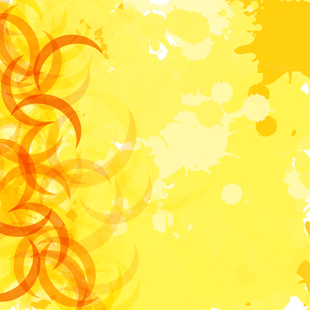 yellow paint splash Illustration