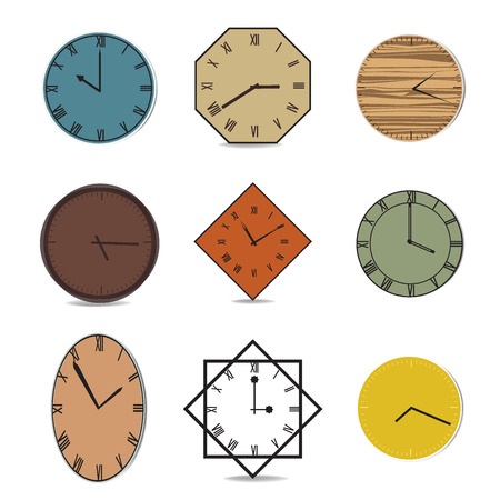Vector vintage clock illustration