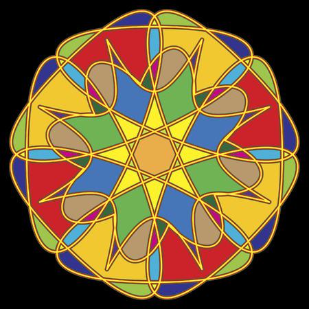 円形の飾り。