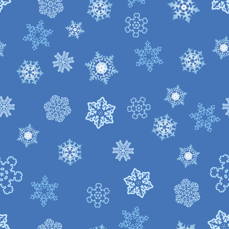 Winter seamless pattern. Vector