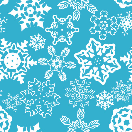 Seamless snowflakes pattern. Stock Illustratie