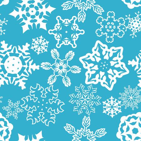 Seamless snowflakes pattern. Ilustrace