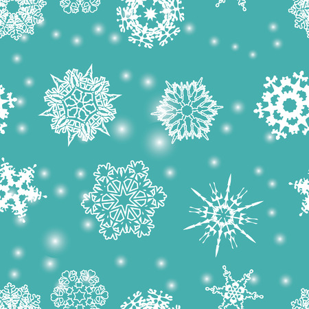 Snowflakes seamless pattern. Vector