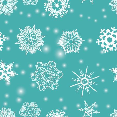 Snowflakes seamless pattern.