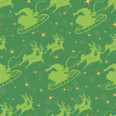 Christmas seamless pattern. Çizim