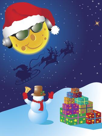 Christmas greeting card. Illustration