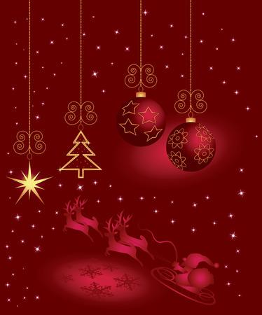 Christmas greeting card. Stock Illustratie