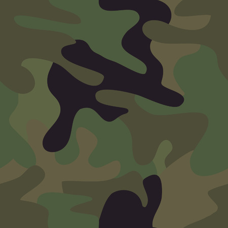 fatigues: Camouflage seamless pattern. Illustration