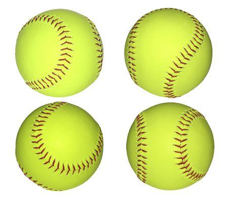 Honkbal ballen geïsoleerd op wit.