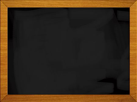 Black school board isolated on white. photo