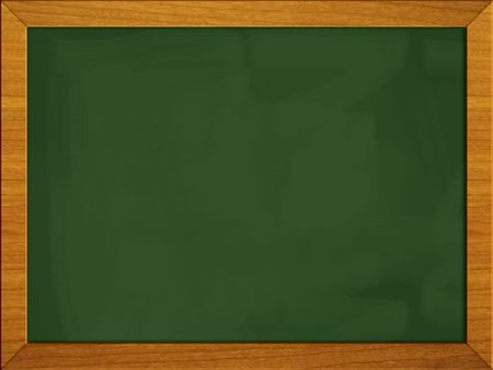 Green school board isolated on white. Stock Photo