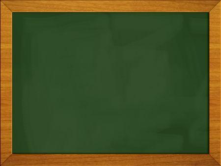 Green school board isolated on white. Stockfoto