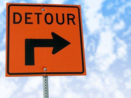 detour: Detour traffic sign.