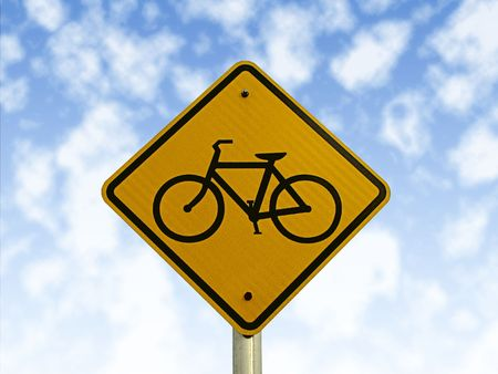 Bicycle traffic sign. photo