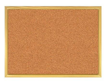 Cork board isolated on white. photo