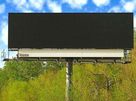 Blank black billboard. photo