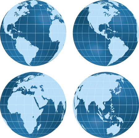 Earth views. Stock Illustratie