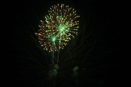 4th of July fireworks. Stock Photo