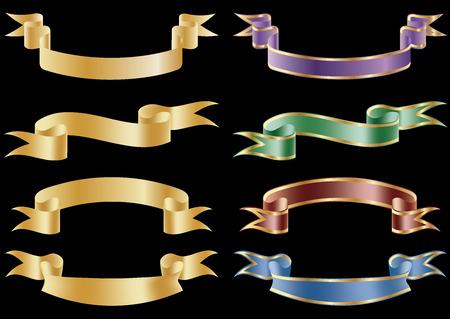Set of 8 vector banners. Stock Illustratie