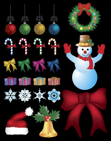 Collection of Christmas ornaments. Stock Vector - 5391508