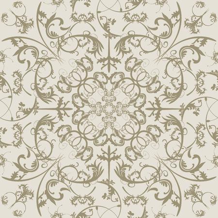 Swirls seamless pattern. Vectores