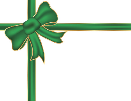 Groene Kerst bow.